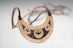 Double heart spiral. Layered crescent neck piece. 24K gold, oxidised copper. Neck Piece, Spiral, Fashion Accessories, Copper, Heart, Bracelets, Gold, Leather, Jewelry