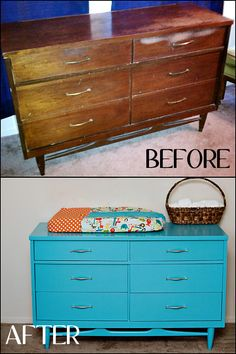 The before looks just like my current dresser. I think we should redo this...