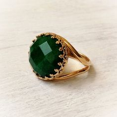 Gemstone Ring Statement Ring Gold Ring With Stone by Avnis on Etsy Black Gold Jewelry, Gold Rings Jewelry, Gold Jewelry Simple, Jewelry Design Earrings, Gold Earrings Designs, Gold Jewellery Design, Gemstone Rings, Ruby Ring Designs, Fashion Rings