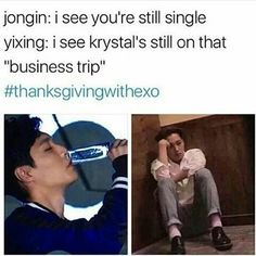 This one's my favorite #thanksgivingwithexo