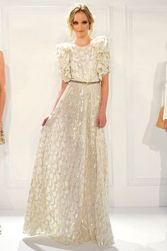 A whimsical, luxe hippie inspired wedding gown from Rachel Zoe's Spring 2012 collection.