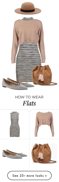 """""""Do it with Flats 2"""" by pure-vnom on Polyvore featuring Autumn Cashmere, Boohoo, UGG, Valentino, Forever 21 and doitwithflats"""