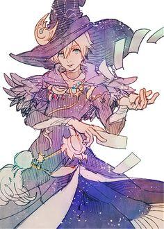 It's really fun! Fantasy Character Design, Character Design Inspiration, Character Concept, Character Art, Final Fantasy Xiv, Final Fantasy Artwork, Fantasy Men, Witch Characters, Final Fantasy Characters