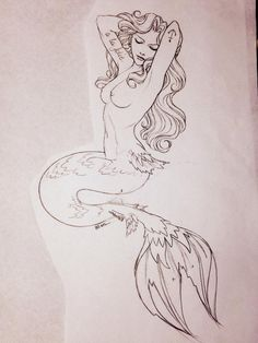 "mine mermaid tattoo ""A la folie"""