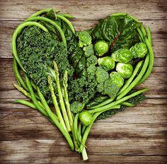 kale,asparagus, green beans heart