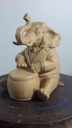 clay elephant #ecofriendlydecorationsforganpati