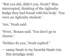 Sassy Noah FTW