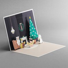Perfect pop up holiday magic.Limited edition cards open to reveal an exquisitely crafted holiday diorama featuring  loveable LIV mascots. Shop now at www.liv.ca/shop Holiday Greeting Cards, Diorama, Pop Up, Holiday Gifts, Best Gifts, Gift Wrapping, Magic, Seasons, Shopping