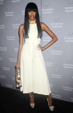 essica White attending the Charlotte Ronson Fall 2012 fashion show during Mercedes-Benz Fashion Week at The Stage at Lincoln Center