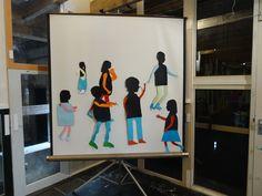 Kunst door de deelnemers van de Vrijstaat Kunstacademie.