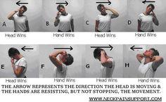 "Neck Exercises | Neck Stretches | Neck Strengthening Exercise... Hopefully this will help my ""military"" neck"