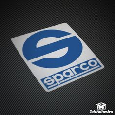 Car and Motorbike Stickers Sparco logo on white background
