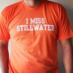 I MISS STILLWATER tee by I MISS MY COLLEGE. Pay homage to the iconic college towns that helped shape our young collegiate minds. www.imissmycollege.com