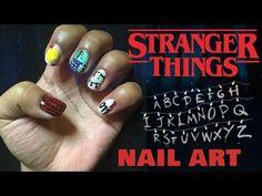 STRANGER THINGS NAIL ART! - YouTube