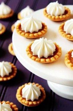 Fall Wedding food ideas, Mini Pumpkin Pies for autumn wedding, fall wedding ideas
