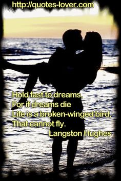 Hold fast to dreams, For if dreams die Life is a broken-winged bird, That cannot fly. #Dreams #Wisdom #Knowledge #Hope #picturequotes #LangstonHughes View more #quotes on http://quotes-lover.com