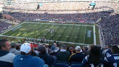 Inside Gillette Stadium in Foxboro, Massachusetts, home of the New England Patriots for a Pats-Jets game in October 2012