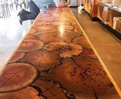 cordwood table - Google Search