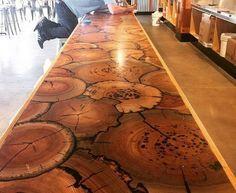 cordwood table - Google Search