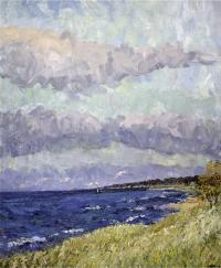 October, Lake Michigan by James Brandess, Michigan artist