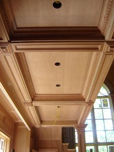 Classic Wood Paneling Ceiling #latticebasementceilingideas