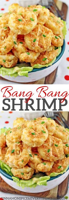 Bonefish Grill's Bang Bang Shrimp A copycat restaurant recipe for Bonefish Grill's spicy, crunchy Bang Bang Shrimp. They're great for dinner and make the best appetizer, party or game day snack! Shrimp Dishes, Shrimp Recipes, Fish Recipes, New Recipes, Dinner Recipes, Cooking Recipes, Favorite Recipes, Shrimp Appetizers, Appetizer Party