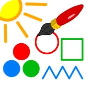 Colors and shapes - by LudoSchool        iOS Universal In this game children learn how to recognize and use colors. They also learn how to draw shapes and various types of lines.  This is a valuable learning process teaching children how to draw, write and develop their imagination. Thanks to its intuitive user interface and well-developed features, this game provides children with new ways of learning.  nglish, french, spanish, german. 12MB