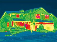 Most of home's energy is lost through its windows. Infrared photography proves it here.
