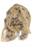 Z for Zebra Scarf: Tan