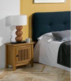 Comprar online Mesilla de Noche en madera natural de Pino Colección BRUNA Sweet Home, Bed, Dimensions, Furniture, Home Decor, Shopping, Wood Tables, Home Decorations, Bedroom Table