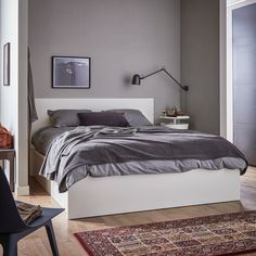 IKEA offers everything from living room furniture to mattresses and bedroom furniture so that you can design your life at home. Check out our furniture and home furnishings! Mattress Springs, Foam Mattress, Ikea Bedroom, Bedroom Furniture, Bed Storage, Storage Spaces, Ottoman Bed, White Ottoman, Bed Base