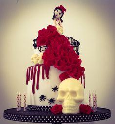 Vampire birthday girl cake