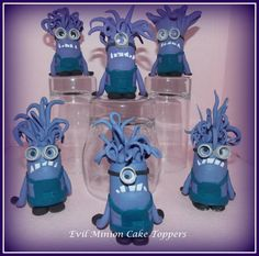 Evil Minions  Cupcake / Cake Toppers