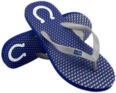 64740ce8c83 Forever Collectibles Indianapolis Colts High End Flip Flops Mens Leather  Flip Flops