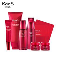 Купить Kans новая косметика комплект по уходу за кожей красоты кожи лица крем для лица эмульсия 9 шт. один комплекти другие товары категории Комплектыв магазине The Beauty Life Cosmetics ShopнаAliExpress. маска сна и маска серебро