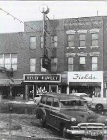 Downtown LaSalle 1940's.  Kelly Cawley CASINO, yes a casino in Illinois.