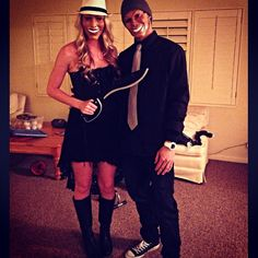 The Purge couples halloween costume. Yes the machete is real haha