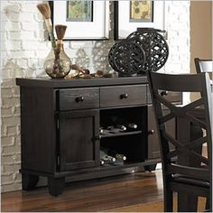 Homelegance Hawn Server in Espresso - Drawing from the basic form of the Arts & Crafts movement and subtly adding modern lines, casual dining will never look the same in your home with the addition of the Hawn Collection. A rich walnut finish highlights the walnut veneer on this substantially sized table. Features: Finish: Espresso Casual dining Part of the Homelegance Hawn Collection