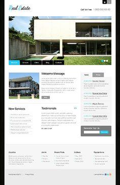 Design for Designers: The Blue Real Estate WordPress Template