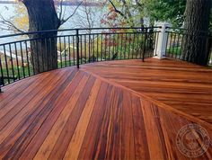 Deck railing, gorgeous angles and that view!