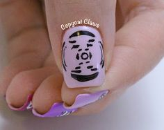 DNA x-ray crystallography nail art - Photo 51!