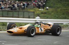 Bruce McLaren (McLaren M7A Ford) 1st position. 1968 Belgian Grand Prix. Spa-Francorchamps, Belgium. 9 June 1968