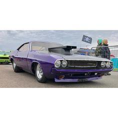 #challenger #dodge #mopar #rt #prostreet #tough #stance #purple #dragcar #dragracing