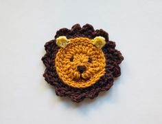 EUR 4.42 Lion Applique - PDF Crochet Pattern - Instant Download - Embellishment Accessories Animal Ornament Scrapbooking
