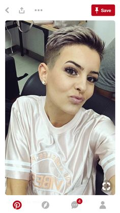 Today we have the most stylish 86 Cute Short Pixie Haircuts. Pixie haircut, of course, offers a lot of options for the hair of the ladies'… Continue Reading → Short Pixie Haircuts, Short Hairstyles For Women, Bun Hairstyles, Short Hair Cuts, Short Hair Styles, Pixie Cuts, Punk Pixie Haircut, Indian Hairstyles, Super Short Hair