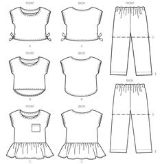 M6917 | Children's/Girls' Tops, Shorts and Pants | New Sewing Patterns | McCall's Patterns