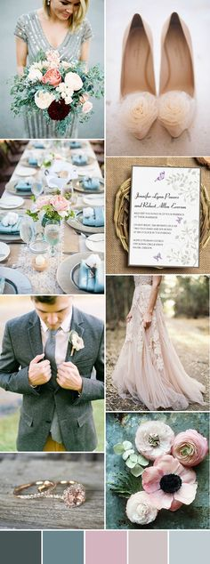 chic rose gold blush and gret wedding inspiration