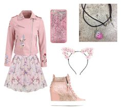"""""""Pink!"""" by pcnhs-magnex ❤ liked on Polyvore featuring art"""