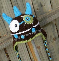 Baby Boy Monster Hat Crochet Baby Hats Monster Baby by azek2000, $35.00