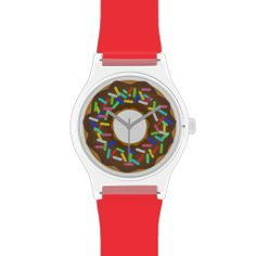 chocolate rainbow donut wristwatch.
